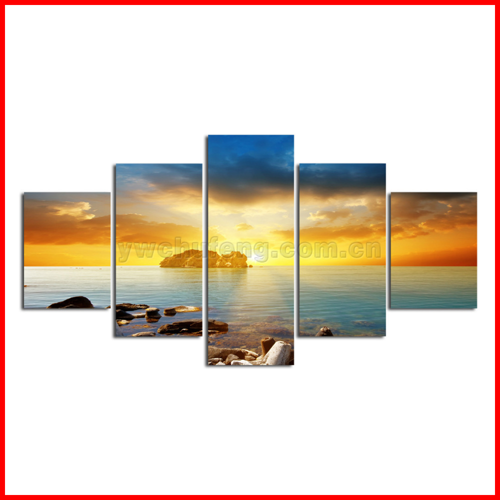 HD Canvas Print home decor wall art painting Picture-Elephant 5PC Noframe