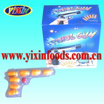 halal colorful Gun shape blister fruit gun Bubble gum