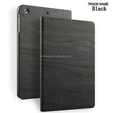 Wholesale Price Smart luxury tree grain PU case for ipad air, tooled leather cover