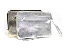 wrist holograph zipper clutch lady wallet