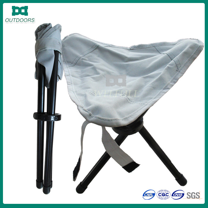 Portable three legs folding fishing chair backpack