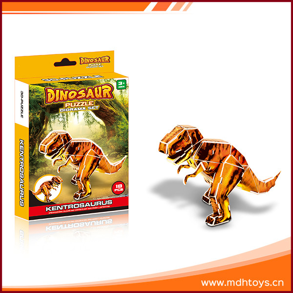 Scientific games early education paper dinosaur toy 3d foam puzzle