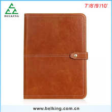 Business Style Crazy Horse Pattern Leather Case For Universal Tablet PC Stand Holder Case For iPad 7-8'' 9-10''