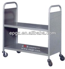 Metal Library Book Cart,Steel Library Book Trolley,Library Trolley