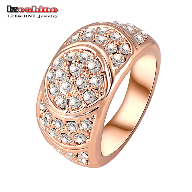 New Arrival Engagement Ring Rose Gold Plate Women Rings Made With Genuine SWA Elements Austrian Crystal  Anillos Ri-HQ0071
