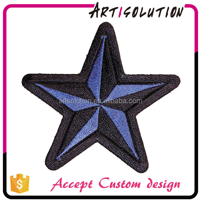 Garment Accessories Cheap Price Custom Star Shape Embroidery Patch
