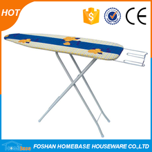 Hot sales mesh top vacuum ironing board with wire Iron rest