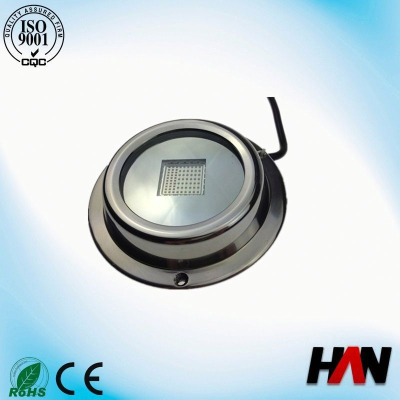 100W bright 316 Stainless steel surface mount led boat underwater light
