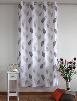 big flower print thermal ready made curtain