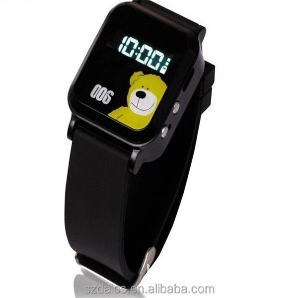 GPS continuous locating smart wristphone sos panic button watch gps tracker for kids