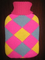 Knitted / Fleece hot water bottle cover 2000ml rubber pvc hot water bottle