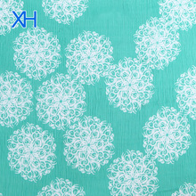 Digital Printed Crinkle Chiffon Fabric Pure Silk Fabric For Sale