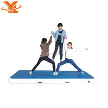 Large Group Gymnastics Airtrick Mat for Tumbling, Cheerleeding Inflatable Air Track with Pump