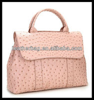 Ostrich textured PU leather woman fashion handbag 2013