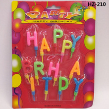 happy birthday letter candle with blister package