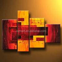 modern art wall decoration oil painting retangle street 100% handmade decoration oil painting in canvas