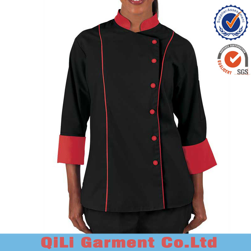 2016 hot selling high quality ladies chef jacket rasturant uniform kitchen cooking chef
