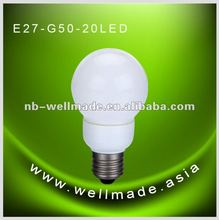 milky cover E27 3W global LED bulb ztl