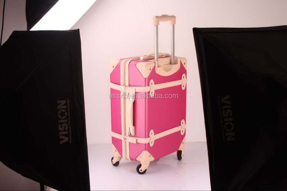 ABS+PC 3 pcs set eminent old fashion trolley case european style trolley royal trolley luggage