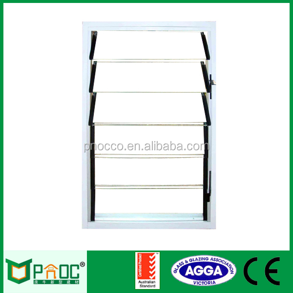 Aluminum glass louvers window