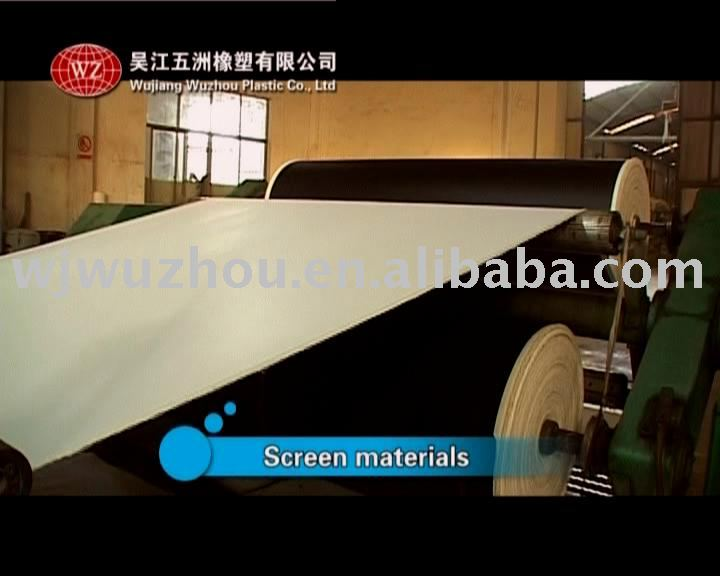 PVC white/black Matt Projection Screen Fabric