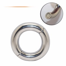 40/45/50mm for choose Donut Metal Stainless Steel cock Rings Male Delay Ejaculation Hard Prevent Impotence Penis Lock Sex Toys