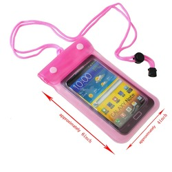 New Design Customized PVC Waterproof Mobile Cell Phone Bag for Swimming