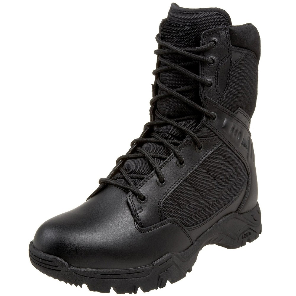 Mens Black Genuine Leather Combate boots