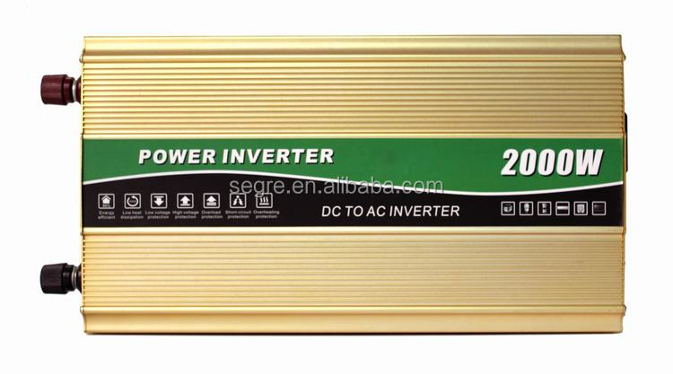 Shenzhen manufacturer good price 2000W pure sine wave inverter with 12V DC to 220V AC 50HZ power inverter