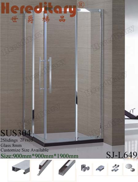 china wholesale square stainless steel frame shower cubicle price,custom sizes shower cubicle