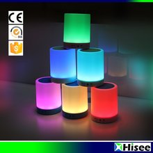 New hotsale smart LED touch light multi function customized portable bluetooth speaker