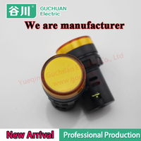 AD16-22DS Customized 230V Yellow color Indicator Lamp Amber LED Signal Light