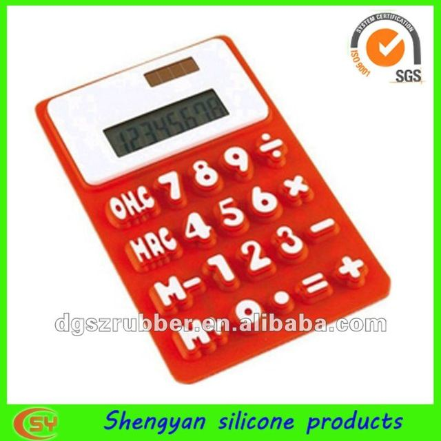 foldable graphic lighting silicone calculator
