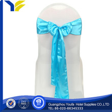 arm manufacter 100% polyester no need tied organza sash for wedding chair cover