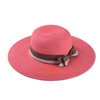 Women's Ridge Wide Floppy Brim Summer Beach Sun Hat Straw Cap Party Garden Travel