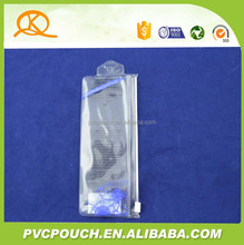 0.2mm thickness PVC clear cosmetic zip lock plastic bag