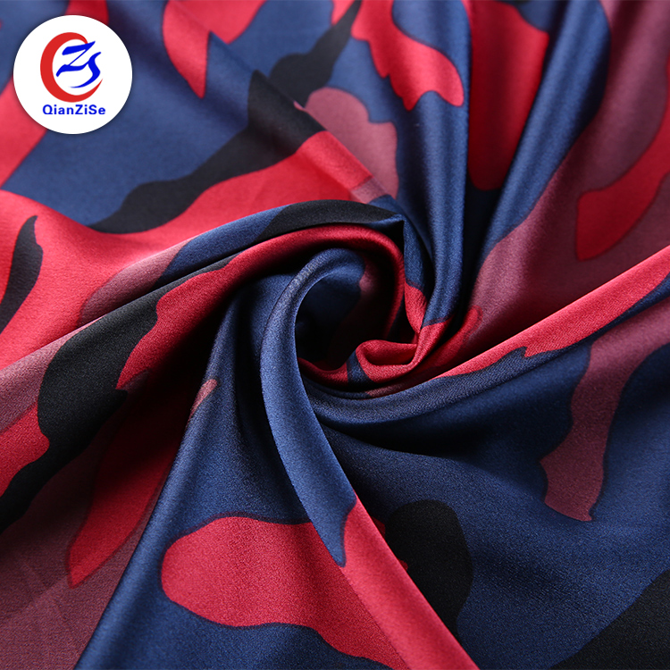 hammered satin cloth price per meter silk camouflage fabric in inr custom printing