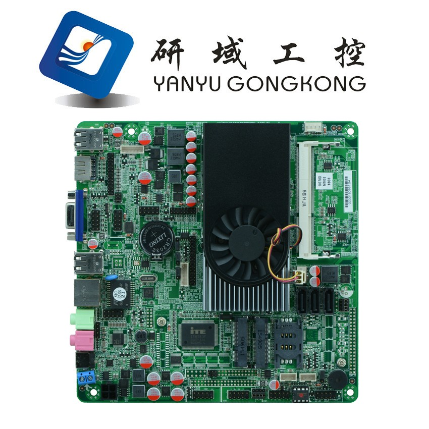 Network Security Motherboard with 8*usb <strong>10</strong>*com port industrial motherboard DC 12V