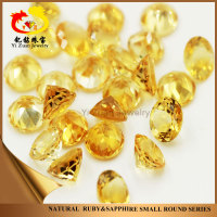 Chinese wholesale round cut Natural Yellow precious Quartz Citrine stone