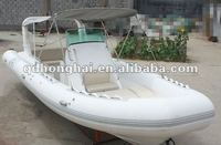 CE 7.3m Orca hypalon material fiberglass inflatable rib boat for sale