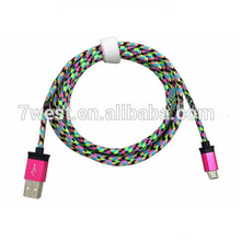 Universal Colorful Micro Braided USB Cable Sync Data Charger for Cell phone