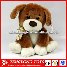endearing and soft plush puppy dog toy stuffed plush dog with a silk tie