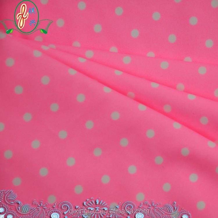 young girl dots competitive chlorine resistence swimsuit fabric