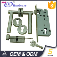 Newest good quality stainless steel bathroom door locks and handles , hotel door handle locks