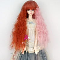 Miss U Hair Cheap Factory Price Synthetic long curly BJD Doll Wig Hair B003
