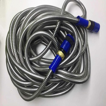 Online shopping usa 25ft/50ft/75ft/100ft stainless steel garden hose flexible metal garden hose