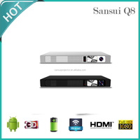 2016 China best selling SANSUI Q8 1080P 3D support HD led 4k TV projector with 4200lumens