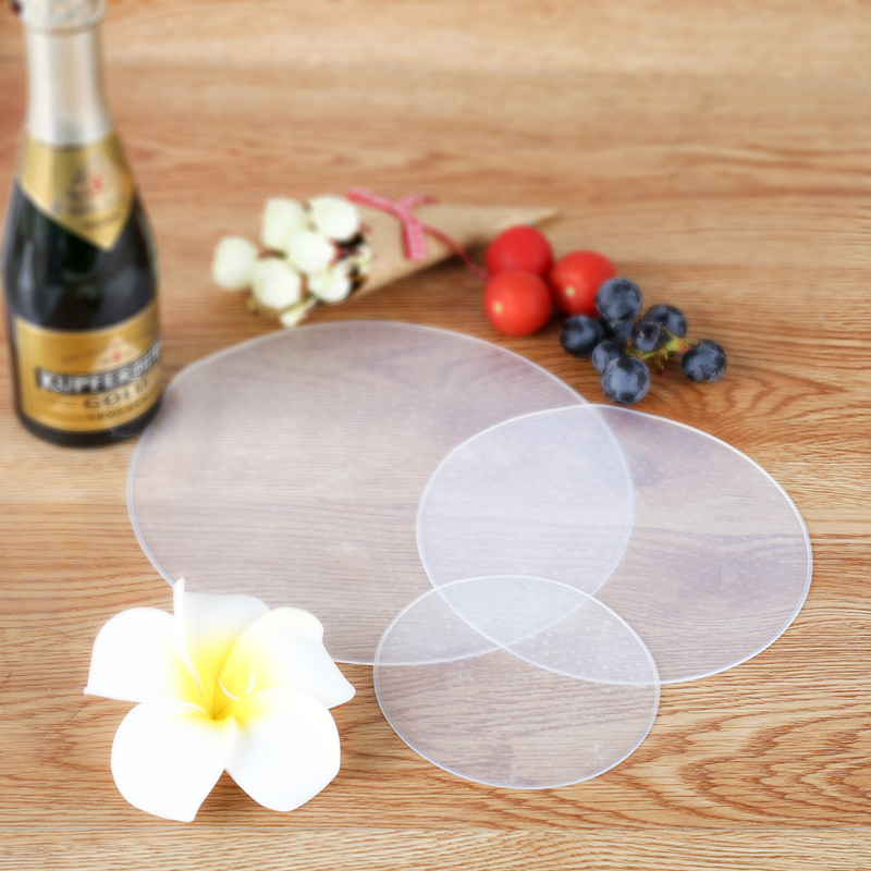 China supplier whosesale eco-friendly reusable round Silicone food wrap