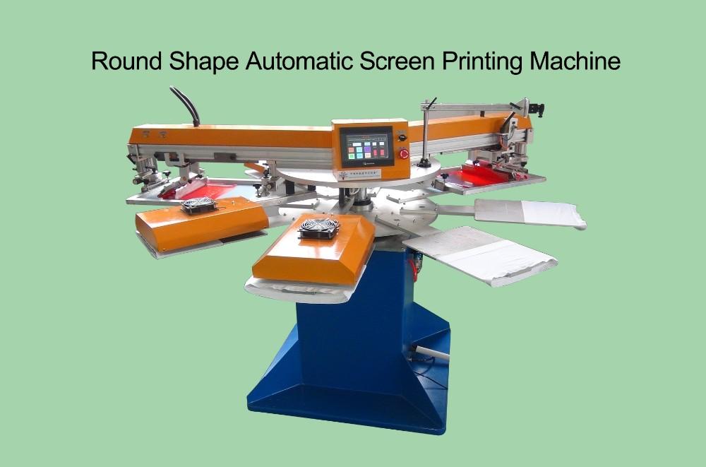 Заводская цена полуроторный автоматический Шелковый экран печатная машина для продажи