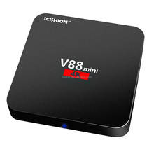 TV Box Scishion V88 Mini 4K Android 6.0 Google Play CPU Quad-Core Kodi TV